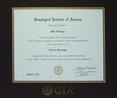 GIA GG 修了証書